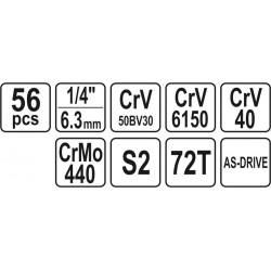 """KPL. NARZĘDZIOWY 1/4"""" 56CZ."""
