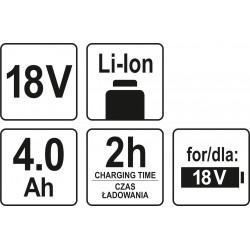 AKUMULATOR 18V LI-ION 4,0 AH