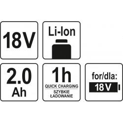 AKUMULATOR 18V LI-ION 2,0 AH