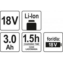 AKUMULATOR 18V LI-ION 3,0 AH