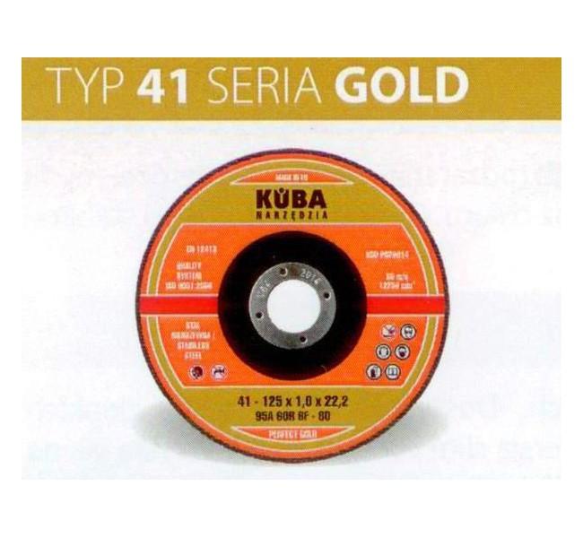 TARCZA 41 125X1,6X22,2 95A46RBF-80 PERFECT GOLD