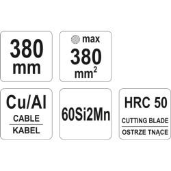 NOŻYCE ZAPADKOWE DO KABLI 330MM  YATO YT-18602