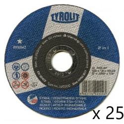 TARCZA 41 125X1,6X22 2W1 INOX 222900 TYROLIT 25SZT
