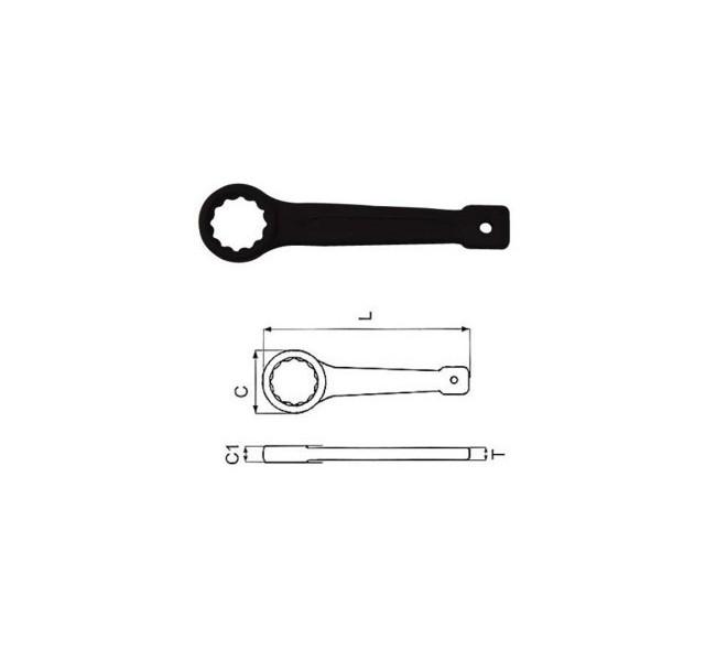 Klucz oczkowy udarowy 46mm    W72146